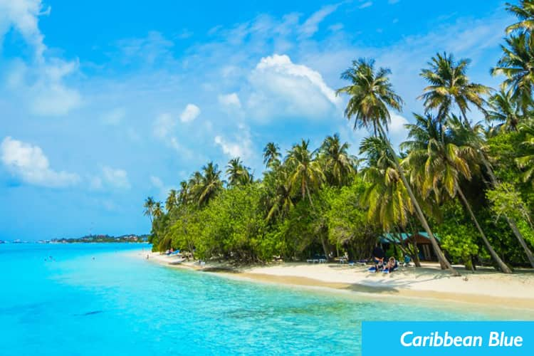 A beautiful view of carribean blue water.