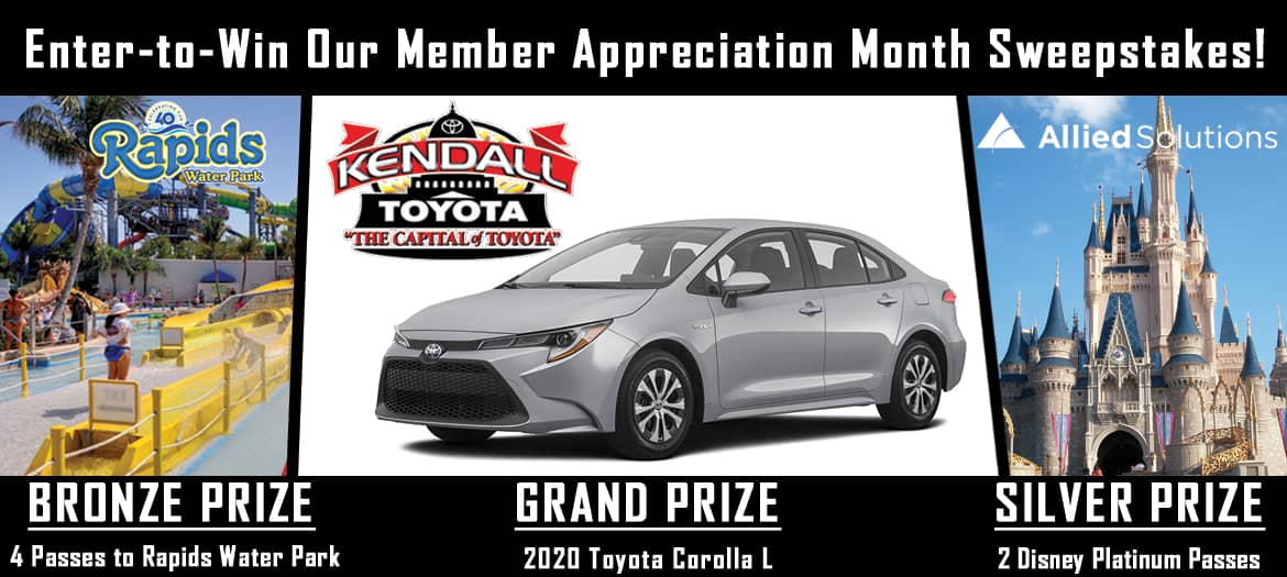 Sweepstakes giveaways. Grand Prize: A 2020 Toyota Carolla L. Silver Prize: 2 Disney Platinum Passes. Bronze Prize: 4 passes to Rapids Water Park.